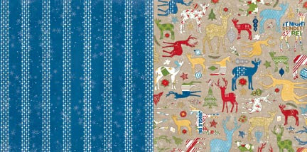 Bo Bunny Papers - Dear Santa - Snowfall - 2 Sheets