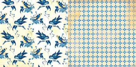 Bo Bunny Papers - Genevieve - Birds - 2 Sheets