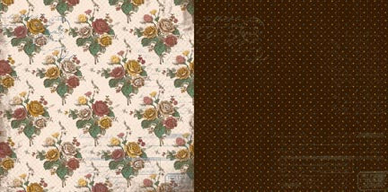 Bo Bunny Papers - Provence - My Secret Garden - 2 Sheets