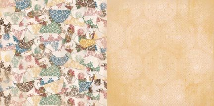 Bo Bunny Papers - Provence - Porcelain - 2 Sheets