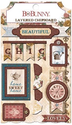 Bo Bunny Layered Chipboard - Provence
