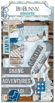 Bo Bunny Noteworthy Die-Cuts - Whiteout