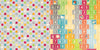Bo Bunny Papers - Toy Box - Circles - 2 Sheets