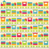 Bo Bunny Papers - Toy Box - Playtime - 2 Sheets