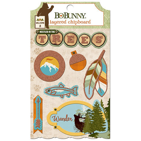 Bo Bunny Layered Chipboard - Take a Hike
