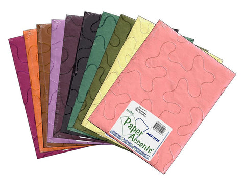 "Paper Accents Cardstock Variety Pack 8.5""x 11"" Embroidered 10pc"
