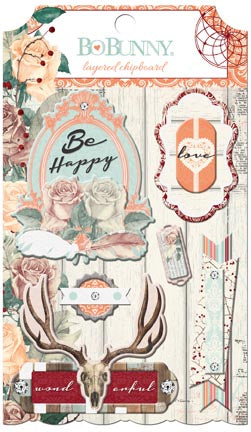 Bo Bunny Layered Chipboard - Bella Rosa