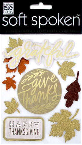 Soft Spoken 3D Embellishments - Give Thanks