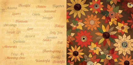 Bo Bunny Papers - Farmer's Market - Gratitude - 2 Sheets