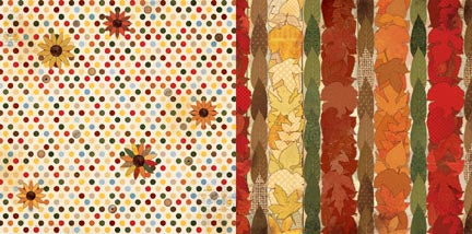 Bo Bunny Papers - Farmer's Market - Sunflowers - 2 Sheets