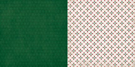 Bo Bunny Papers - Merry & Bright - Mistletoe - 2 Sheets