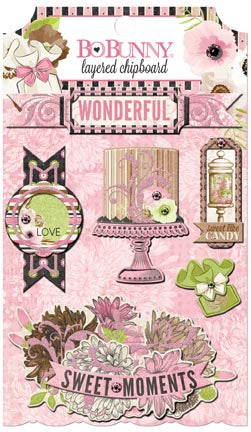 Bo Bunny Layered Chipboard - Sweet Moments