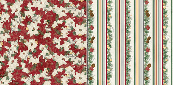 Bo Bunny Papers - Tis the Season - Garland - 2 Sheets