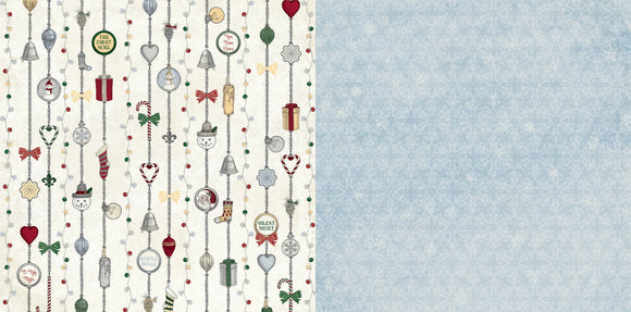 Bo Bunny Papers - Tis the Season - Silver Bells - 2 Sheets