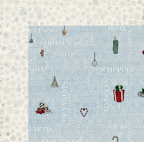 Bo Bunny Papers - Tis the Season - Yuletide - 2 Sheets