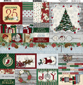 Bo Bunny Cardstock 12x12 Combo Stickers - Tis the Season