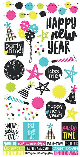 Simple Stories Cardstock Stickers - Happy New Year