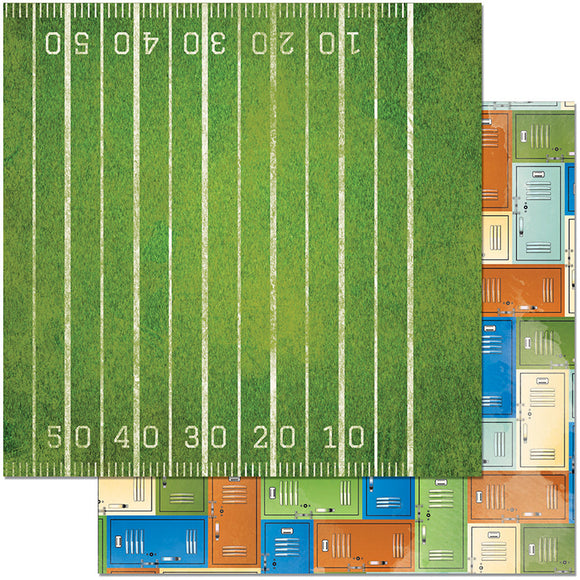 Bo Bunny Papers - Game On - 1st Down - 2 Sheets