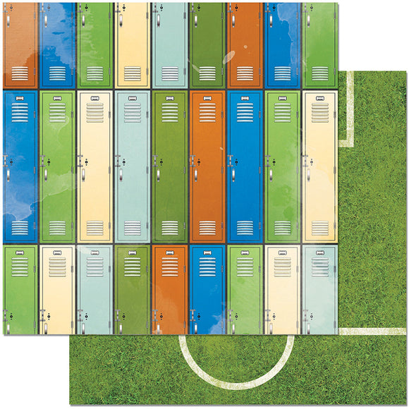 Bo Bunny Papers - Game On - Lockers - 2 Sheets