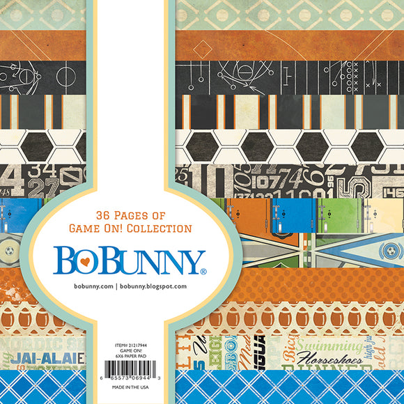 Bo Bunny 6x6 Paper Pad - Game On