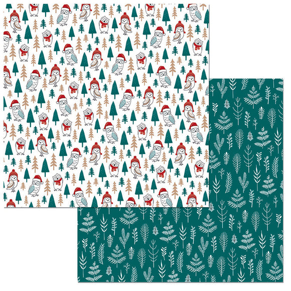 Bo Bunny Papers - Fa La La - Holiday Hoot - 2 Sheets