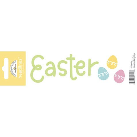 Doodlebug Design Headlines Stickers - Easter