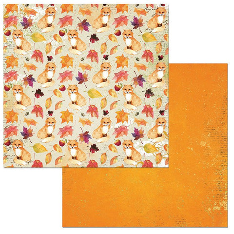 Bo Bunny Papers - Dreams of Autumn - Foxes - 2 Sheets