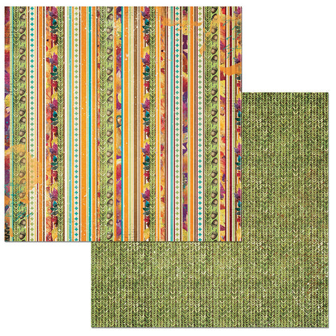 Bo Bunny Papers - Dreams of Autumn - Stripe - 2 Sheets