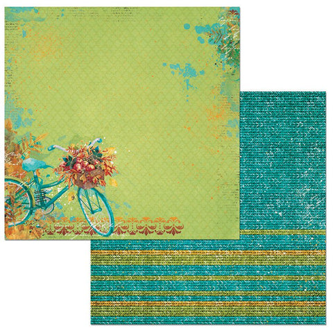 Bo Bunny Papers - Dreams of Autumn - Thankful - 2 Sheets