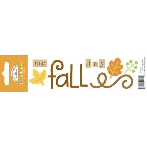 Doodlebug Design Headlines Stickers - Fall