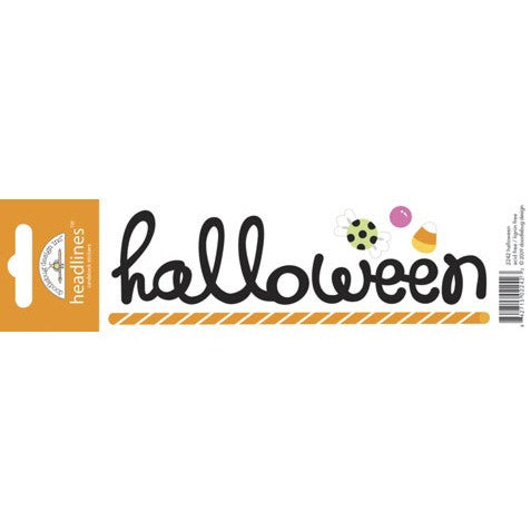 Doodlebug Design Headlines Stickers - Halloween