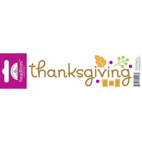 Doodlebug Design Headlines Stickers - Thanksgiving
