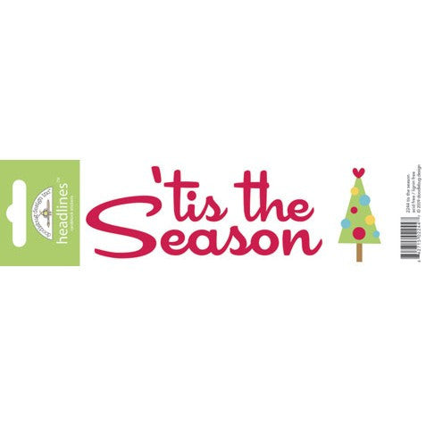 Doodlebug Design Headlines Stickers - Tis the Season
