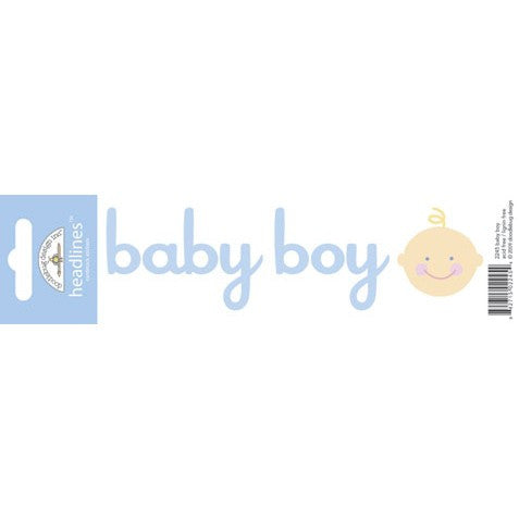 Doodlebug Design Headlines Stickers - Baby Boy
