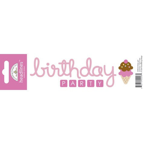 Doodlebug Design Headlines Stickers - Birthday Girl