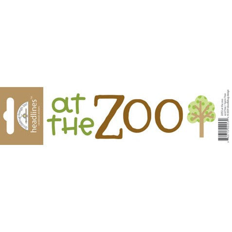 Doodlebug Design Headlines Stickers - At the Zoo