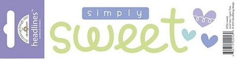 Doodlebug Design Headlines Stickers - Simply Sweet