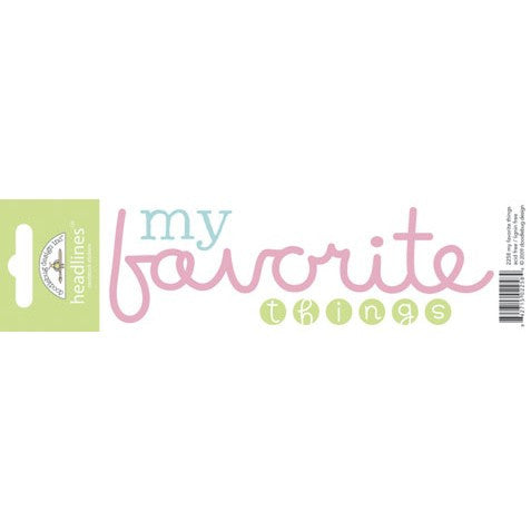 Doodlebug Design Headlines Stickers - My Favorite Things