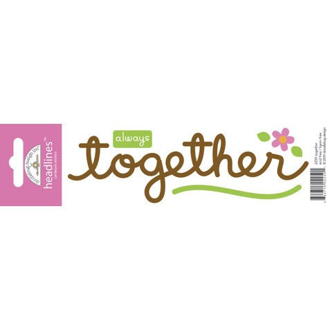 Doodlebug Design Headlines Stickers - Together