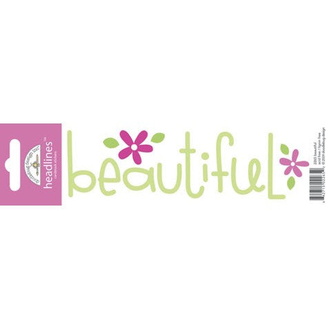 Doodlebug Design Headlines Stickers - Beautiful