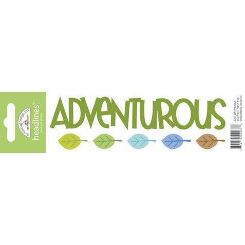 Doodlebug Design Headlines Stickers - Adventurous