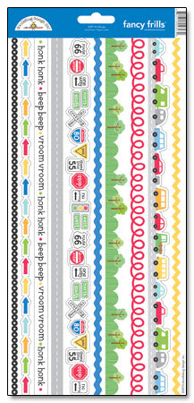 Doodlebug Design Cardstock Stickers - On the Go Borders