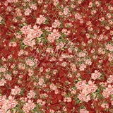 Graphic 45 Papers - Floral Shoppe - Burgandy Blossoms - 2 Sheets