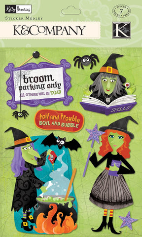 K&Company Sticker Medley - Kelly Panacci - Halloween Witches