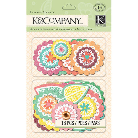 K&Company Layered Accents - Handmade Doilies