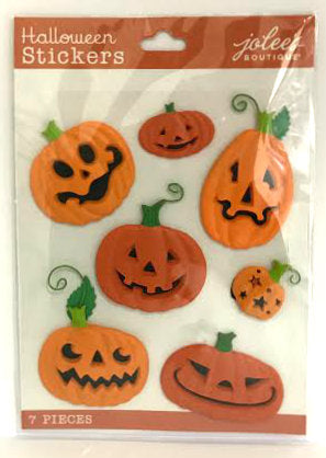 Jolee's Boutique 3D Stickers - Funny Pumpkins