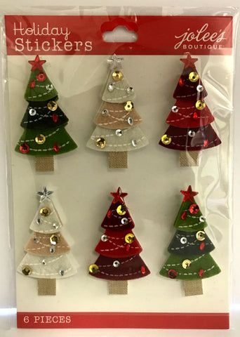 Jolee's Boutique 3D Stickers - Christmas Tree Repeat