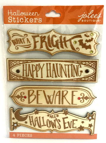 Jolee's Boutique 3D Stickers - Halloween Wooden Signs