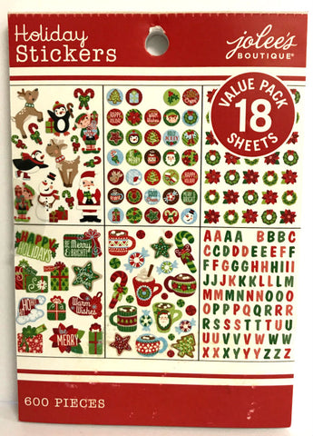 Jolee's Boutique Sticker Book - Holiday Mega Sticker Pad