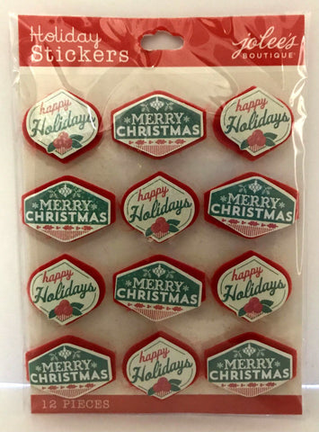 Jolee's Boutique 3D Stickers - Christmas Greetings Repeat